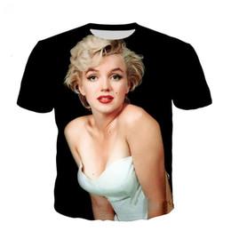 314cf5c20 Newest Men Womens 3D T-Shirt Marilyn Monroe Print Short Sleeve Funny T- Shirts Harajuku Fitness Casual Tops Shirt U917