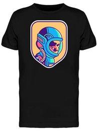 Black Shirt Loose Skull Australia - Vintage Astronaut Skull Men's Tee - Image By Wholesale Discount Cartoon T Shirt Men Unisex New Fashion Tshirt Loose Size Top Ajax