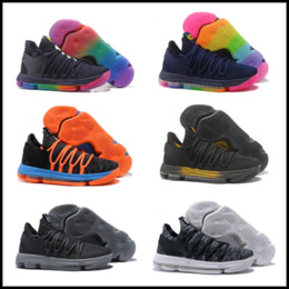 watch 16f9c 420cc Kevin Durant 10 X VII EP KD Basketball Shoes kd 10 X Elite Rainbow Oreo  Black Gold KD Sneakers