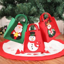 $enCountryForm.capitalKeyWord Canada - Cartoon Christmas Shopping Bag Santa Snowman Christmas Gift Bag Hand Bags Christmas Decorations Drop Shipping