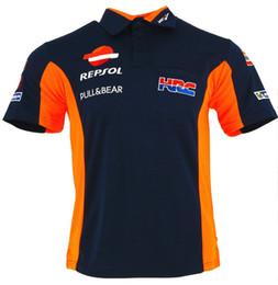 2018 Nueva HRC REPSOL Camisa Moto GP Camisa de moto Polo PADDOCK TEAM RACE WEAR POLO TSHIRT Ant Algodón Camiseta L G