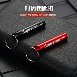 Wholesale 1Pc Aluminum Alloy Whistle Keyring Keychain Mini For Outdoor Emergency Survival Safety Sport Camping Hunting