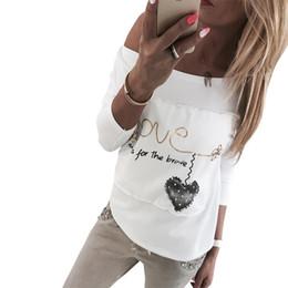 7f25c8bc93a Impresión Blanca Del Corazón T Shirt Online