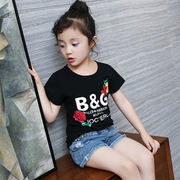 $enCountryForm.capitalKeyWord Australia - Letter Tee Girls T -Shirts Summer Sports Tops Girl Fashion Tshirts Children 'S Designs T -Shirt Casual Clothes Teen Girls Rose T Shirt