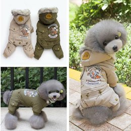 Discount coat apparel for dog - Dog Coat Christmas clothes Pet hooded clothes Cotton apparel costume cute coat dog Pet Winter clothing for dog warm clot