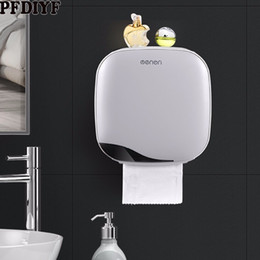 Free Toilet Paper Roll Holder Australia - High Grade Toilet Tissue Box Free Punching Holder Wall Mounted ABS Tissue Boxes Storage Napkin Container Kitchen Accessories
