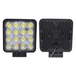 Discount trailer lights - 2pcs 48W 4.2 inch LED Working Lights Flood   Spot beam Driving Lamp for Car Truck Trailer SUV Off Road Boat 12V-24V