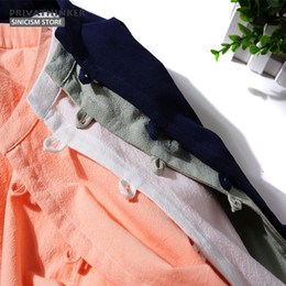 chinese casual clothes Australia - Sinicism Store Cotton Linen Shirts Men Long Sleeve Shirts Spring Chinese Traditional Clothes Button Male Shirt