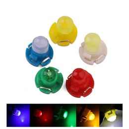 led indicator lights blue Canada - T4.2 COB 1 Auto Car Led Lights Panel Wedge Warning Indicator Bulbs Dashboard Instrument Lamp DC 12V 5-Colors
