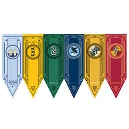 Discount harry potter colleges - 48*150cm Harry Potter Gryffindor Hufflepuff Slytherin Flag Hogwarts College Flags Home Decor Polyester Hanging Banner 57