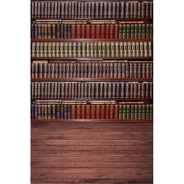 $enCountryForm.capitalKeyWord NZ - Vintage Wooden Floor Bookshelf Photography Backdrops Digital Printed Books Retro Style Baby Newborn Photo Props Studio Backgrounds