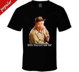 Logo Shirts For Men Australia - Cotton Shirts Are Bunker Stifle Yourself All In The Family Men's Bla T Shirt New From US Band Logo Tee Shirt For Men