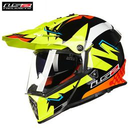 Ls2 Off Road Helmets Australia - LS2 MX436 PIONEER Dual Sports Motorcycle Helmet Motocross Off Road 0613 ATV Casque Casco Moto Capacetes de Motociclista