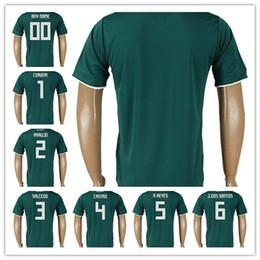 Mexico Soccer Jerseys Thailand Home 2018 World Cup Soccer Jersey Guaranteed  Shipping 6 J.Dos Santos 4 Marquez 4 Castro 2 Araujo 5 A.Reyes 7109db549