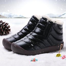Snow Boot Waterproof Australia - Waterproof children's snow boots 2018 winter new girl boy tube children's shoes
