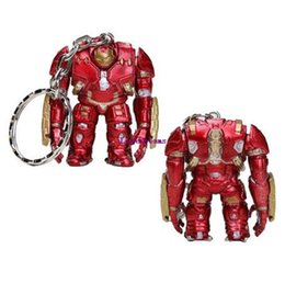 hulkbuster toys Canada - 5 pcs lot 4cm Marvel the Avengers Superhero phone Keychain Movie Hulkbuster Toys Ironman pendant Toys Collectible Model Vinyl Dolls gift