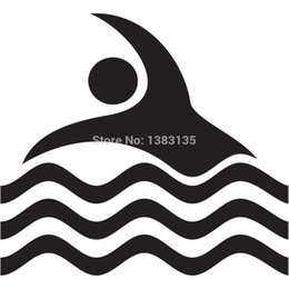 $enCountryForm.capitalKeyWord Australia - HotMeiNi Wholesale 20pcs lot Swimming Pool Symbol Sign Funny Car Sticker For Truck Window SUV Door Kayak Vinyl Decal 8 Colors