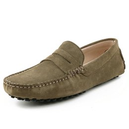 301fba9576 2019 New Women's Loafers Suede Leather Footwear Young Outdoor Flat Shoes  Handmade Casual Shoes Large Size