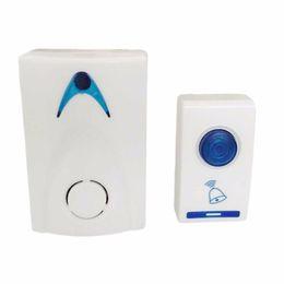 Discount wholesale doorbell chime - 504D LED Wireless Chime Door Bell Doorbell & Wireles Remote control 32 Tune Songs White Home Security Use Smart Door Bel