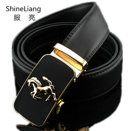 Gold Silver Leather Belt NZ - 2018 Automatic belt for men Gold silver buckle leather Width 3.5CM Length 110 120 130CM Designer High-quality fashion brand male