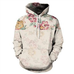 $enCountryForm.capitalKeyWord UK - free shipping wholesale Rose flowers 3D digital printing sweater round neck collar large size loose hooded sweater Couple sweater