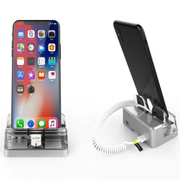 Acrylic tAble displAys online shopping - set BF1070 solid acrylic pure table vertical display holder anti theft remote control alarm charger for iphone
