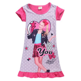 China Jojo Siwa Be You Girls Nightgown 3D Digital Prints Jojo inspired Pajamas Night Gowns for Sale Toddlers Pajamas Pullover Closure US Size 4-10 suppliers