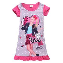Jojo Siwa Seja You Girls Camisola 3D Impressões Digitais Jojo inspirado Pijamas Vestidos de Noite para Venda Toddlers Pijama Pullover Encerramento EUA Tamanho 4-10