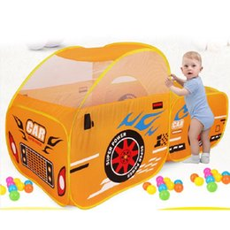 outdoor girls tent 2019 - Foldable Kids Outdoor Toy Play Tent Children Ocean Ball Pool Pit Game Play House Boys Girls Cute Car Model Tents for Kid