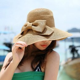 da5883c97b9 Lady Boater Sun Caps Ribbon Round Flat Top Straw Beach Hat Panama Hat  summer Hats for Women Straw Snapback Gorras