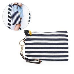 $enCountryForm.capitalKeyWord UK - Fashion Women's Handbags Canvas Striped Tassels Zipper Ladies Hand Bags Casual Clutch Bags Luxury Handbags Women Designer