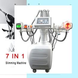 Bio cellulite online shopping - 7in1 velashape Vacuum roller Cellulite reduction cavitation BIO machine velashape infrared light laser slimming equipment salon use