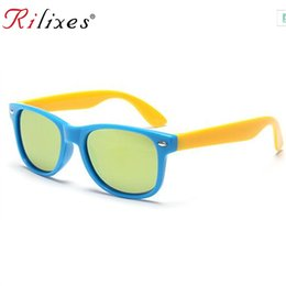 Chinese  RILIXES Brand Designer Kids Sunglasses Children Sun Glasses Baby Sun-shading Eyeglasses UV400 Outdoor Party Boys GirlsDecoration manufacturers