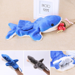 $enCountryForm.capitalKeyWord Canada - New 1Pc Hand Finger Puppet Toys Cartoon Animal Plush Shark Doll Gift For Baby Kids