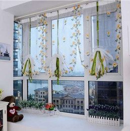 Kitchen Treatments NZ - Modern Floral Tulle Window Treatments Sheer Curtains for Living Room the Bedroom Kitchen Panel Draperies and Curtain Blinds + 4 Hangers