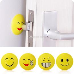 Chinese  Emoji Anti-shock Pad Door Handle Knob Door Lock Anti-shock Pad Emoji Crash Pad Wall Protector Bumper Stickers Corner Protectors WX9-255 manufacturers