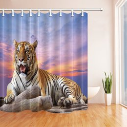 $enCountryForm.capitalKeyWord Canada - Animal Series Tiger 69 X 70 Inch Polyester Fabric Shower Curtain Waterproof Mildew Bathroom Supplies Blackout Hanging Curtains