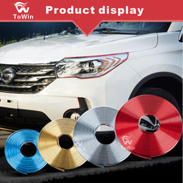 wheel trimmer UK - Car Wheel Hub Trim Strip,Colorful Car Wheel Hub Modification Decoration Strip DIY General for most of Cars Reflective Flash security.