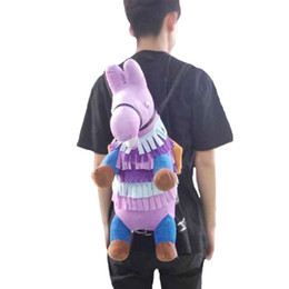 Door toys online shopping - 55cm Fortnite Stash Llama Plush Backpack Game Figure Pony Plush Shoulder Bag Cute Plush Toys Bags Children Adult Storage Bags GGA934