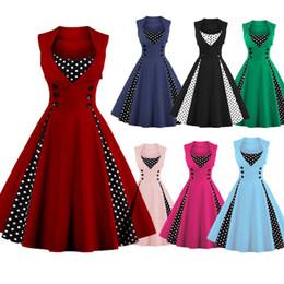 a7efef45d6b Plus Size Audrey  Hepburn Style 1950s 60s Vintage Inspired Rockabilly Swing  Robe Retro Party Dress Feminino Vestidos FS1164
