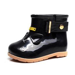 Cute Waterproof Rubber Boots Jelly Soft Infant Boys Girl Boots Baby Rain  Boots With Buckle bota infantil Children Rain Shoes 6625c64e2827
