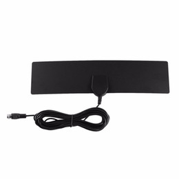 Freeshipping Amplified HDTV Antenna 25 Miles Range Digital Indoor US Plug TV Antenna Signal Amplifier Booster Cable Full 1080 4K