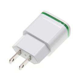 Double Usb Outputs Four Leaf Clover Power Adapter Usb Charging Us Eu With Led Light High Quality And Inexpensive Consumer Electronics Chargers