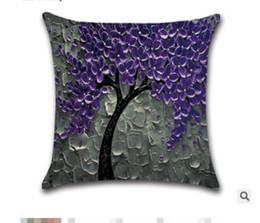 $enCountryForm.capitalKeyWord Australia - Cross-border special for new three-dimensional oil painting rich tree flowers trees cotton cushion cushion pillowcase