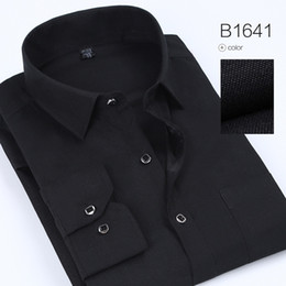 polka dotted shirt for men NZ - Spring Polka And Solid Man Casual Shirts Classic Men Dress Shirt Long Sleeve High Quality Fashion Clothes For Male Free Shipping