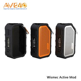 Building speaker Boxes online shopping - Wismec Active Mod W Waterproof Shockproof Bluetooth Speaker Active Box Mod Built in mah Battery Fit Amor NS Plus Tank Original
