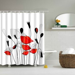 Decorative Bathroom Hooks Australia   Papau0026Mima Lotus Printed Waterproof  Shower Curtains Polyester Bathroom Curtains With Hooks