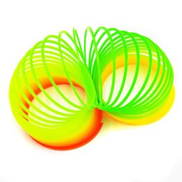 Free magic tricks online shopping - Free Ship funny gadgets Classic Stress Relieve Slinky Rainbow Spring Magic tricks Toy kids Gift Plastic