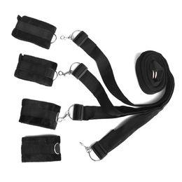 $enCountryForm.capitalKeyWord NZ - Under the Bed Restraint System Bondage Handcuffs Leg cuffs BDSM Slave Femdom Wrist Ankle Restraint Belt Adult Sex Toys J1132