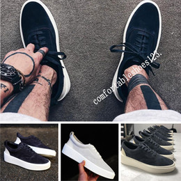 Shoe box packaging online shopping - Italy luxury mercerized leather with box packaging luxury good Fear Of God Low Top Sneaker Old skool Designer men women shoes